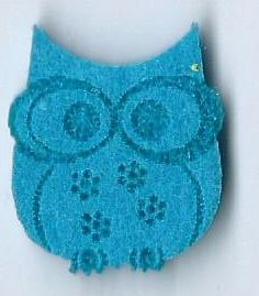 SMALL OWL FELT APPLIQUE