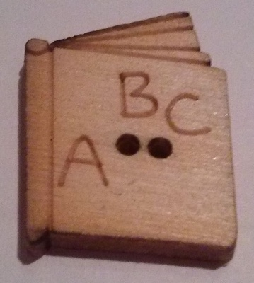 BOOKS WOODEN DECORATIVE BUTTONS