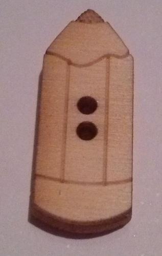 Hobbistica creativa bottoni decorativi in legno matite - Listelli decorativi in legno ...