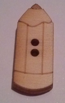 PENCIL WOODEN DECORATIVE BUTTONS