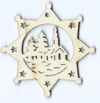 LASER WOODEN CHRISTMAS DECORATION