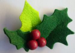 Hobbistica creativa applicazioni feltro natalizie - Agrifoglio immagini a colori ...