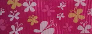 FUCSIA RIBBON WITH BUTTERFLIES