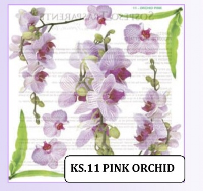 KRISTALL STICK ORCHID PINK