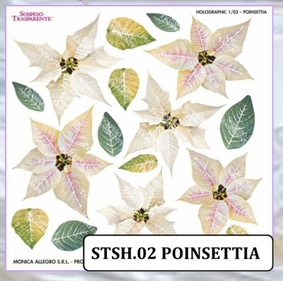 HOLOGRAPHIC SHEET POINSETTIA