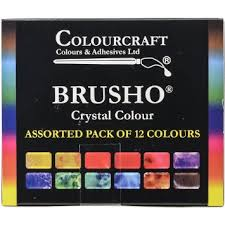 SET 12 COLORI BRUSHO CRYSTAL